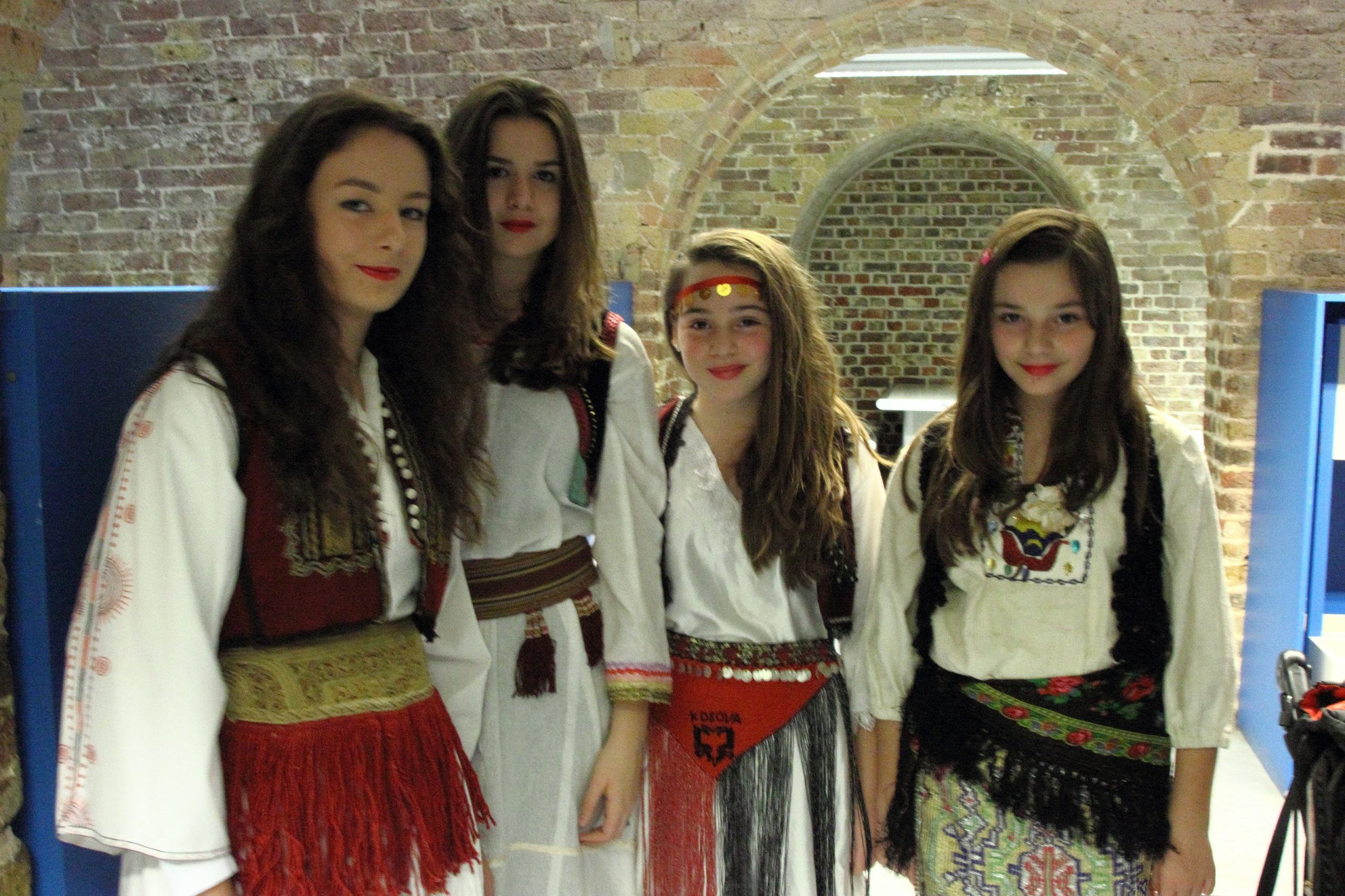 Albanian traditional costumes at the British museum, London photographer