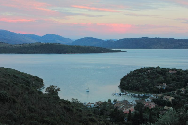 North East Corfu and its close proximity to South of Albania