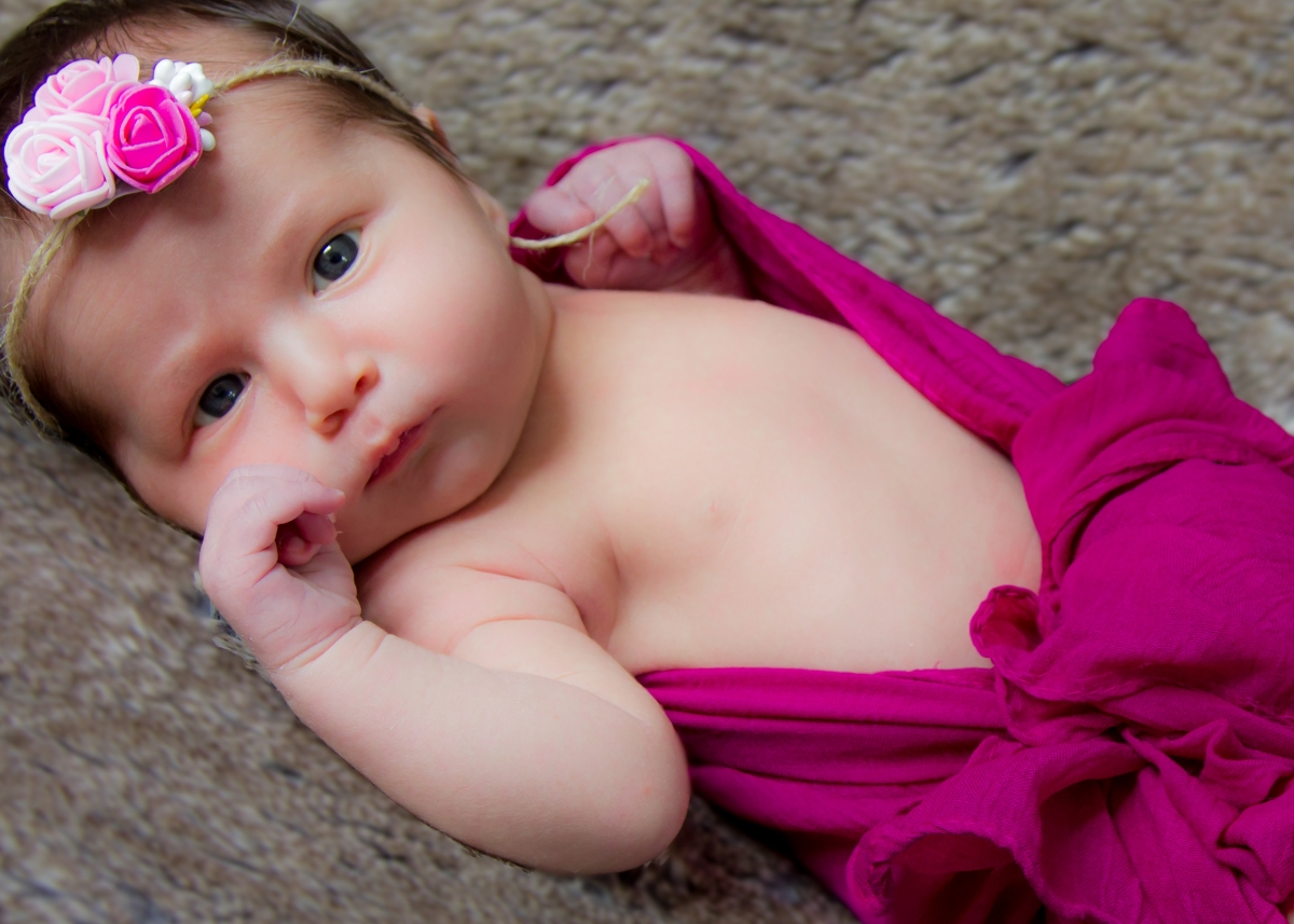 Baby girl, newborn photoshoot, Clapham, London, sneak preview
