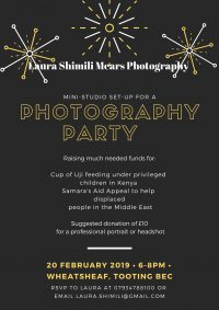 Photography Party in Tooting Bec