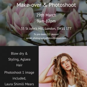"Mother's Day Special, ""Make-over & Portrait"" in Clapham Junction"
