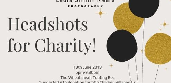 Headshots for charity, London Photographer