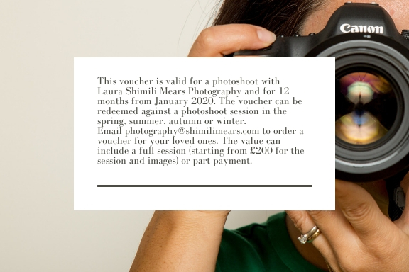 Photoshoot experience, gift certificate