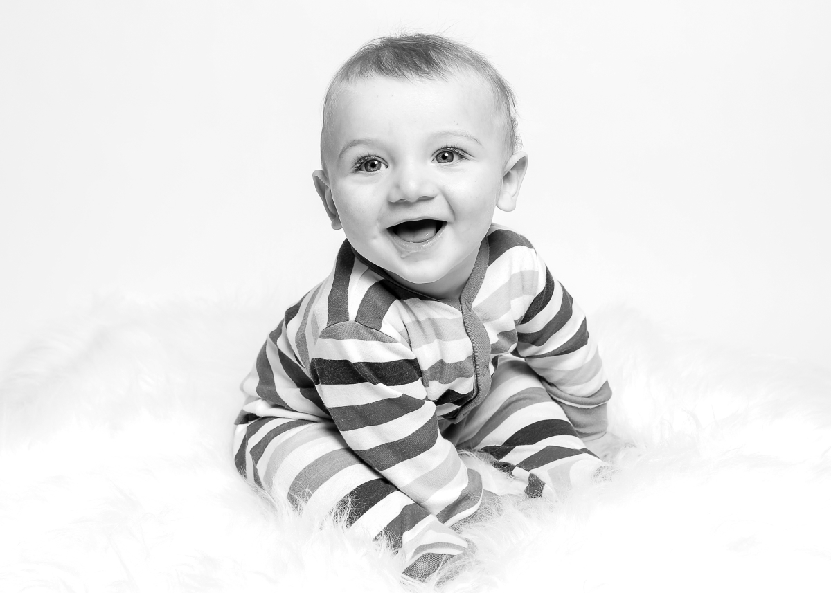 Pure and simple Baby in the studio, Balham photographer