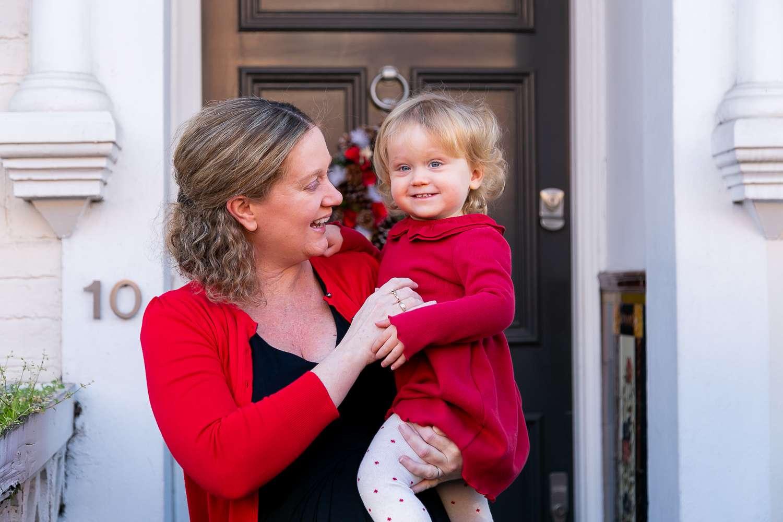 Christmas Doorstep photos, Tooting Photographer