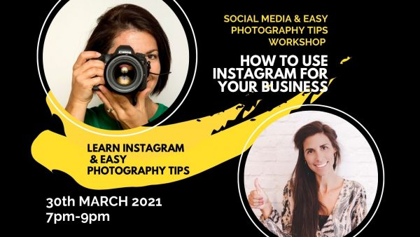 Social Media & Easy Photography Tips Workshop, with Donna Anderton, 30th March