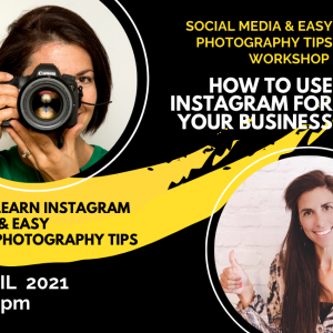 Social Media & Easy Photography Tips Workshop, with Donna Anderton, 1st April