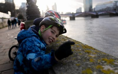 Family cycle rides in South West London